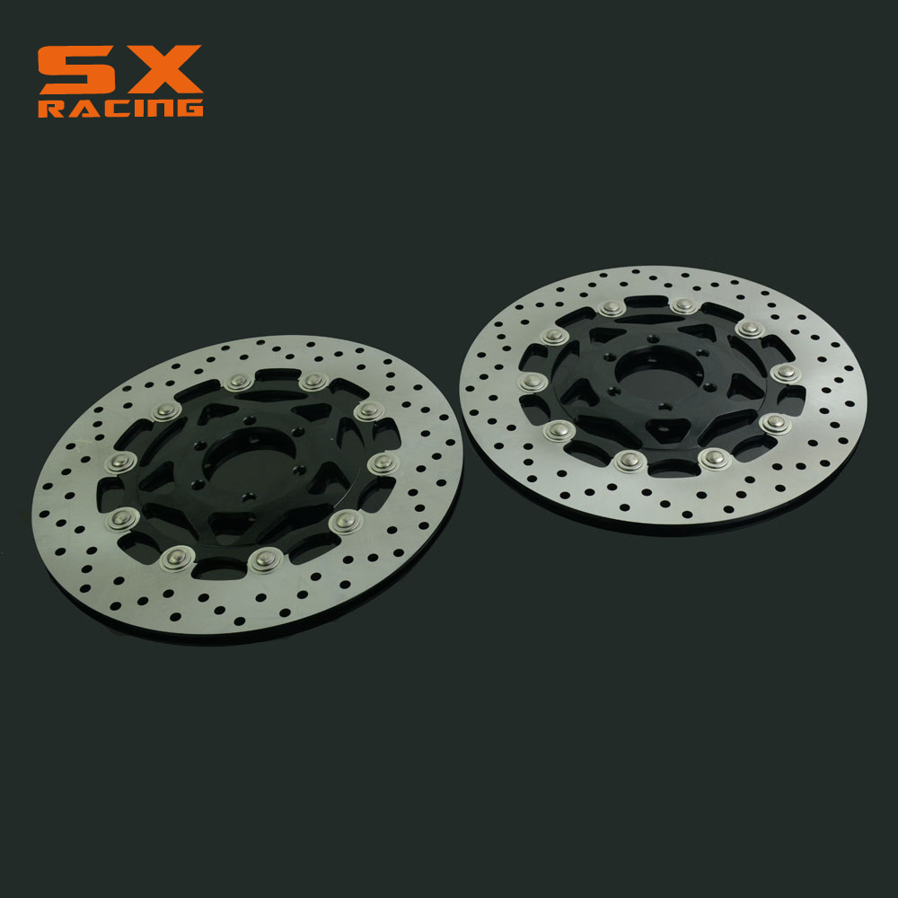 Motorcycle Front Floating Brake Disc Rotor For XJR400 FZR600 FZS600 FZ750 TDM850 TRX850 FJ1200 FJ 1200 Dirt Bike rear brake disc rotor for yamaha fz400 srx400 xjr400 fz600 fzr600 fzs600 srx600 xj600 yzf600 yzf750r tdm850 tdm900 yzf1000