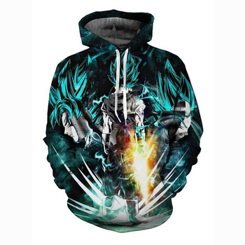 Sudadera con capucha talla estadounidense Dragon ball Super Saiyan primavera Unisex chaqueta sudaderas
