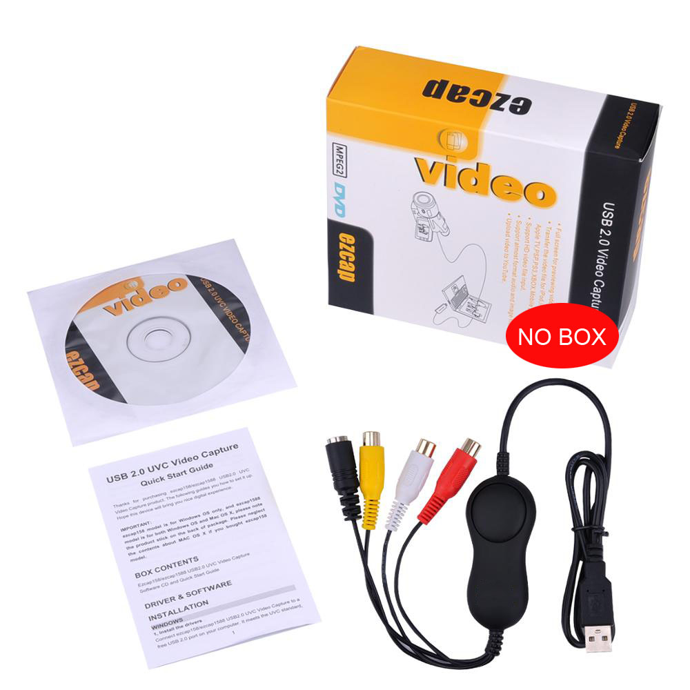 Ezcap158 USB Audio Video captura analógicos de grabación de vídeo para XBOX PS3 VHS Windows MAC win10 OBS Vmix mejor que Ezcap 1568, 172