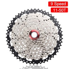 BOLANY MTB Bike Cassette 9 Speed 11-50T Freewheel Gear Ratio Mountain Sprocket Silver black Steel For Shimano Sram System