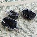 UMY Wire Winding Irregular Shape Stone Pendulum Natural Black Tourmaline Pendant Fashion Jewelry