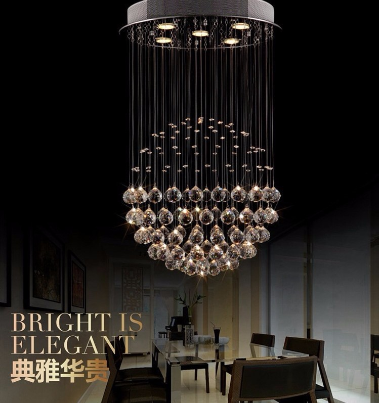 LukLoy LED Crystal Chandelier, Modern LED Chandeliers Lighting, Ceiling Lamps Light Pendant for Living Room Decoration modern simple crystal chandelier light creative personality crysta chandelier lamps chandeliers lighting living room bedroom