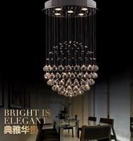 LukLoy LED Crystal Chandelier, Modern LED Chandeliers Lighting, Ceiling Lamps Light Pendant for Living Room Decoration