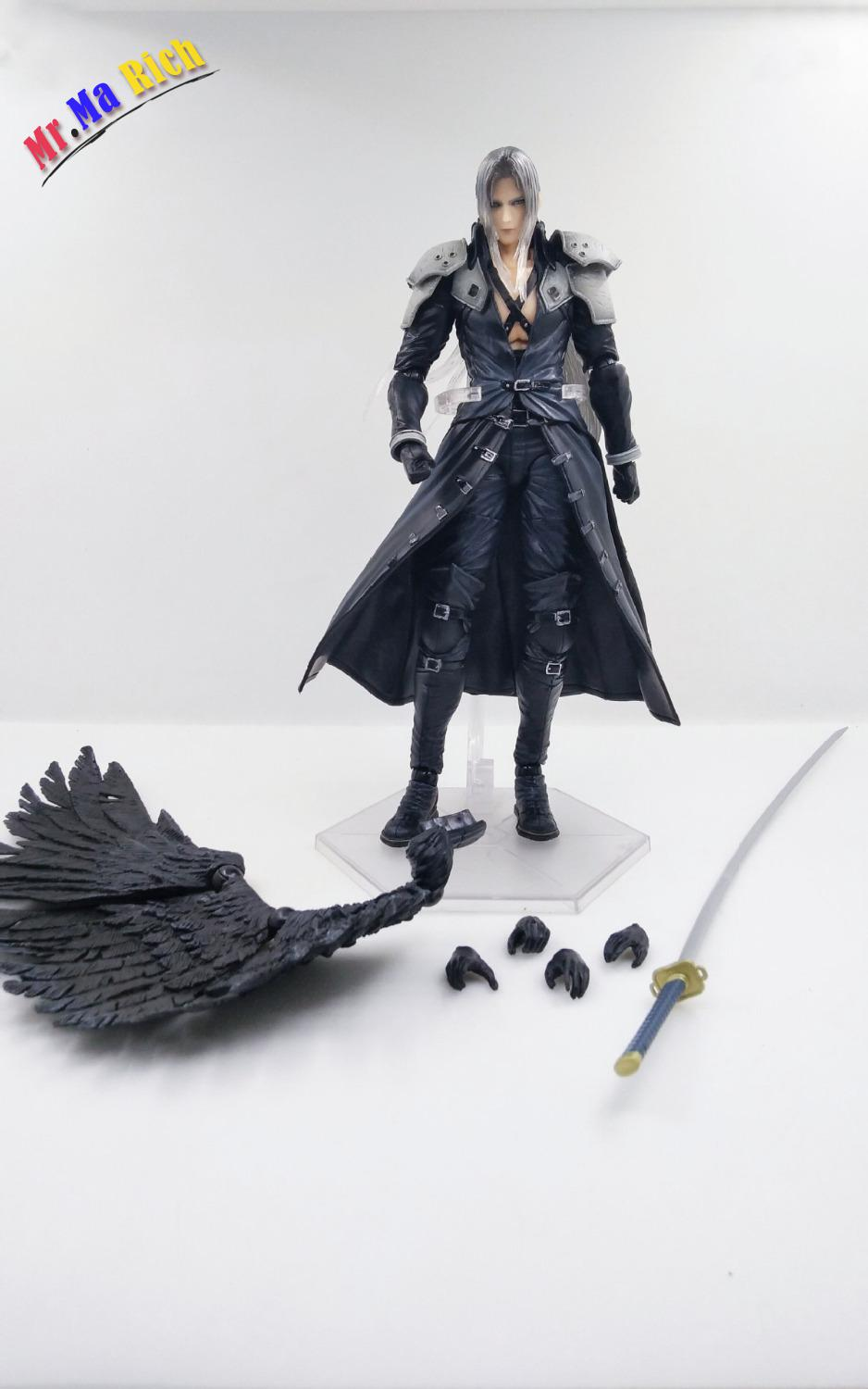 Anime Figure 25cm <font><b>Final</b></font> <font><b>Fantasy</b></font> Vii <font><b>7</b></font> Sephiroth Pvc Action Figure Collectible Model Toys Doll image