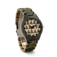 BOBO BIRD I19  Wooden Watch Men Green Sandalwood Band Men-sized Clock Quartz Fragrant Watch for Men in Gift Box