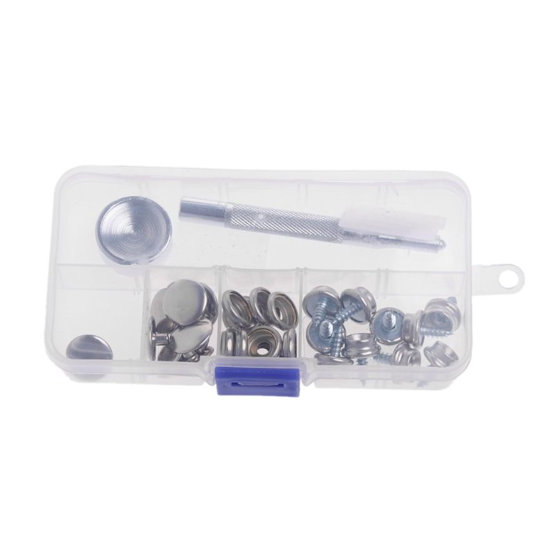32 Pcs Stainless Steel Boat Marine Canvas Fabric Snap Cover Button Socket  Kit Damom