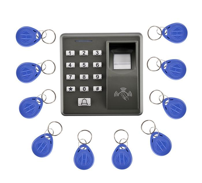 M10 Fingerprint 10 Pcs KeyCard+500 Users Fingerprint Access Control Standalone Single Door Controller Cheapest Standalone Keypad 1000 users tcp ip usb fingerprint door access controller standalone biometric fingerprint time attendance and access control