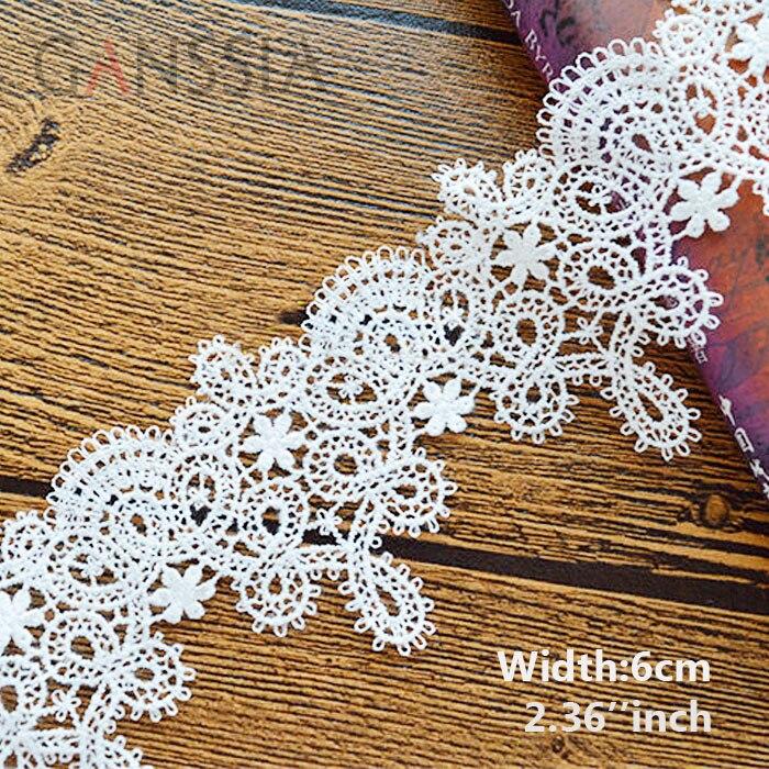 1 jarda largura: 6cm de alta qualidade diy pingente artesanal acessórios de roupas solúvel em água bordado rendas guarnições (ss-363)