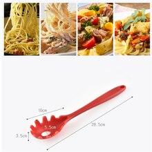 BXLYY кухонная силиконовая полупрозрачная ложка для спагетти, силиконовая рыболовная ложка для лапши, кухонная ложка для пасты, кухонные принадлежности. 8z