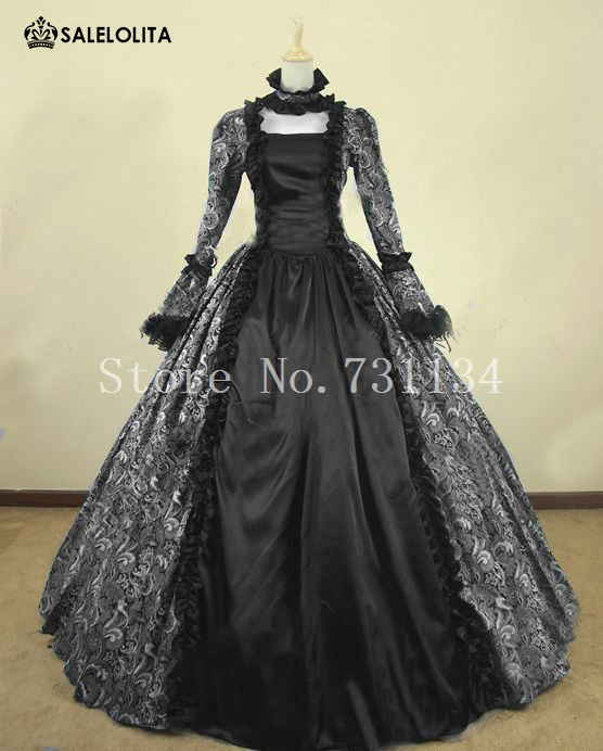 Victorian Gothic Cosplay Brocade Period Costume Vintage