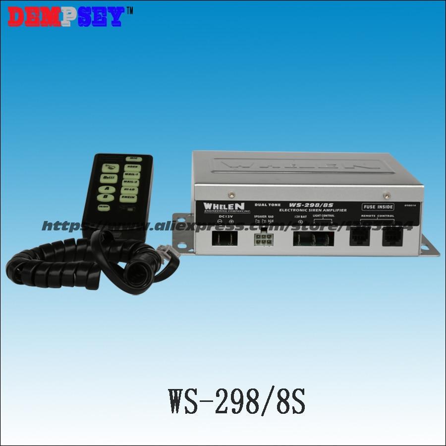 WS-298/8s 300w Electronic Siren,Dual Channel 300W Speaker Alarm,10Tone,emergency/fire Engine/Police Siren,without Speaker