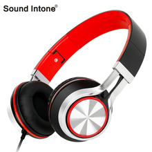 Sound Intone HD200 Stereo Folding Headsets Audifonos with Microphone Wired Music Headphone for Smartphones iPhone PC Laptop