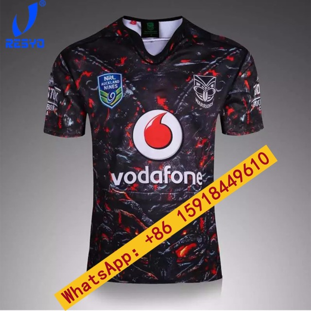 RESYO 2017 NRL BLACK BULE WHITE WARRIORS MEN RUBGY JERSEYS TOP QUALITY FREE  SHIP 9972d7150