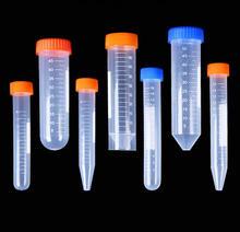 10/15/50ml Rotondo/Cono/fondo Piatto di Plastica Provetta da centrifuga con Tappo A Vite per i generi di Esperimenti di Laboratorio Trasporto libero