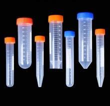 Tubo de centrífuga de plástico de fondo plano con tapón de rosca para experimentos de laboratorio, redondo, 10/15/50ml, envío gratis