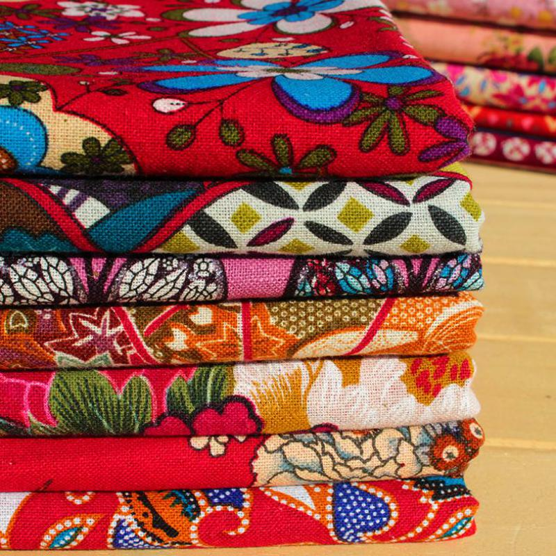 1 Meter Floral Cotton Fabric Textile Bag Fabric For Sewing Patchwork Crafts Cloth Diy Handmade Materials Tela Para Tapizar