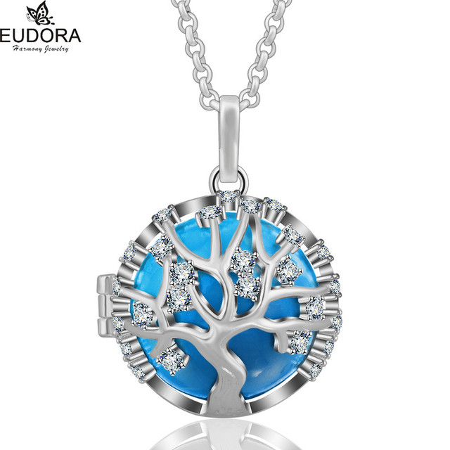[Sponsored]EUDORA Harmony Ball Tree Of Love Pendant with Chain Necklace for Maternity Perfume Cage pPBR61