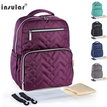 Fashion Mummy Maternity Nappy Bag Insular Brand Large Capacity Baby Diaper Travel Backpack Designer Nursing Bag For Baby Care цена и фото