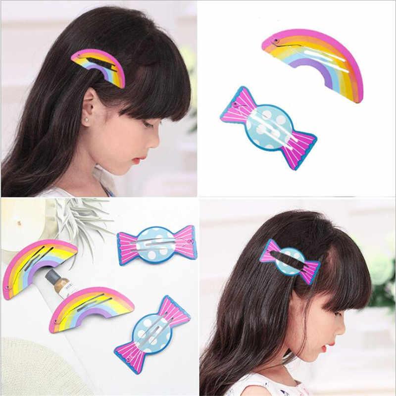 Miúdos bonitos 1-6 pçs/set Flamingo Abacaxi Grampos Sereia Dos Desenhos Animados Cavalo Rainbow BB Grampo de Cabelo Menina Acessórios Para o Cabelo headwear