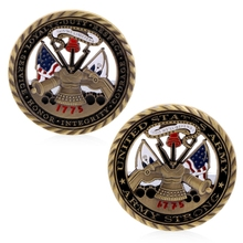 DHL Free Shipping 100pcs/lot, US Army Core Values Gold Plated Commemorative Challenge Coin Collection Art Gift Drop ship