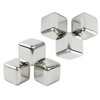 10 Pcs Lot Newest Whiskey Stainless Steel Stones Whisky Ice Cooler For Whiskey Beer Bar Household