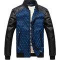 2016 новый бренд мужской PU кожаная куртка мотоцикла Молодая весна осень случайные тенденции мужской мотоциклетная куртка шить