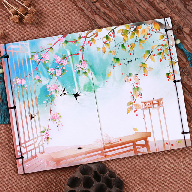 New Arrival Colored Pages Thread Stitching Notebook Original Office ...