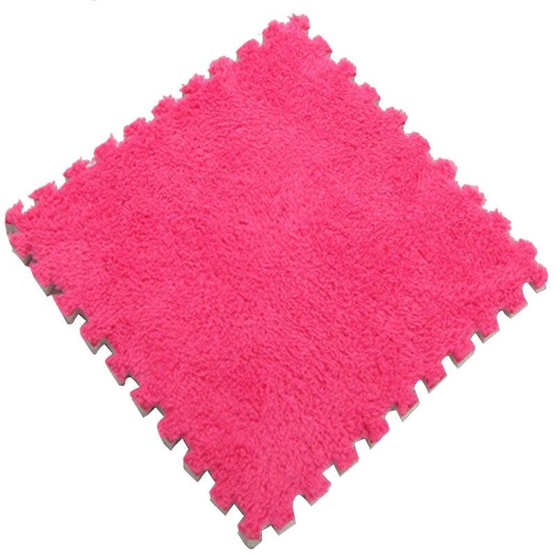 Ткань лохматый 30x30 см Коврик-головоломка пена бархатистый коврик EVA пена EVA домашняя пена коврик - Цвет: Rose