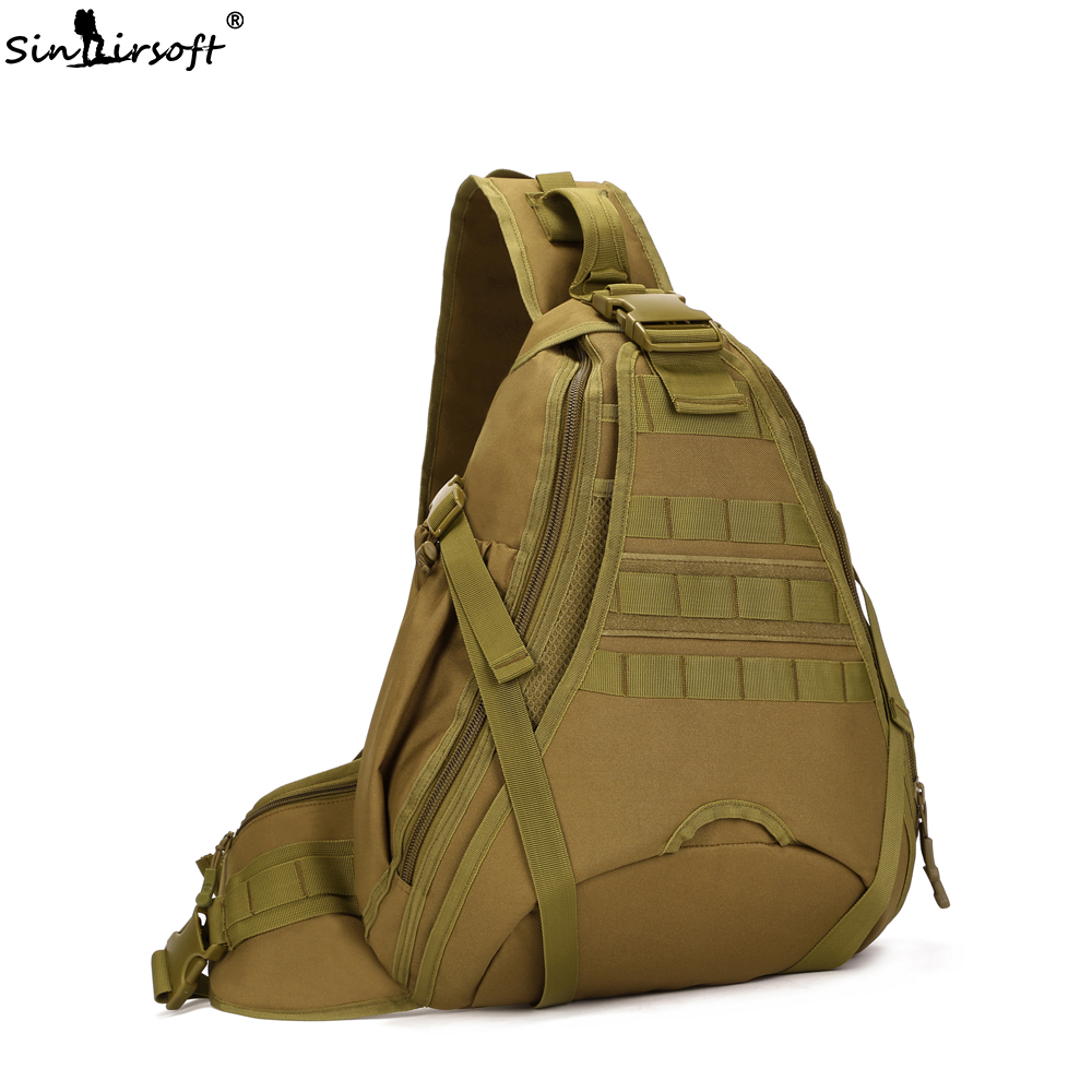 SINAIRSOFT 14 inches Laptop Tactical Molle Waterproof Backpack Camping Hiking Fishing Travel Shoulder Bags with raincover