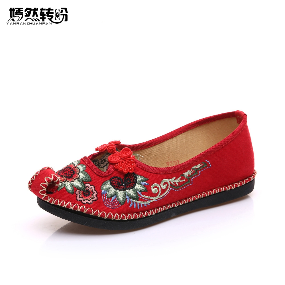 Chinese Embroidery Women Flats Old BeiJing Slip On Handmade Sewing National Embroidered Comfortable Ballet Shoes Zapatos Mujer chinese women flats old beijing mary jane casual flower embroidered cloth canvas dance ballet shoes woman zapatos de mujer