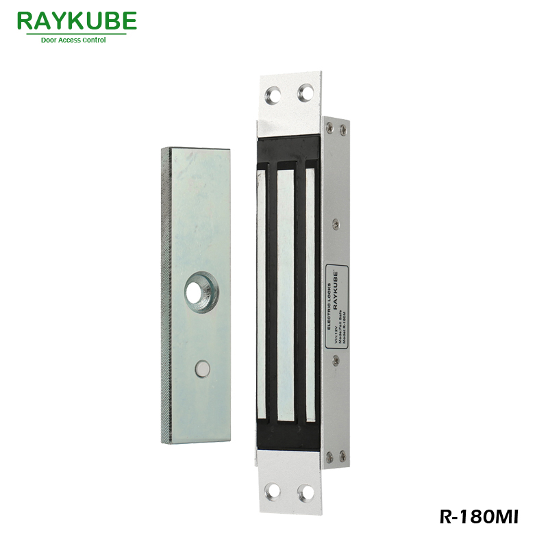 RAYKUBE 180KG(350Lbs) Magnetic Lock With Mortise Mount For Dooe Access Control System Electric Lock R-180MI raykube u bracket for 180kg electric magnetic lock install glass door r 180u