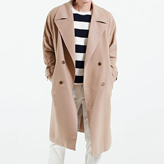 2018 Men Brand Trench Coat Spring Autumn Plus Size Long Coats With Belt Windbreaker Outerwear for men Fashion Loose Jackets
