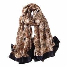 Designer 2017 luxury brand scarf for women summer shawls and wraps silk scarves pashmina female bandana print lady hijab foulard