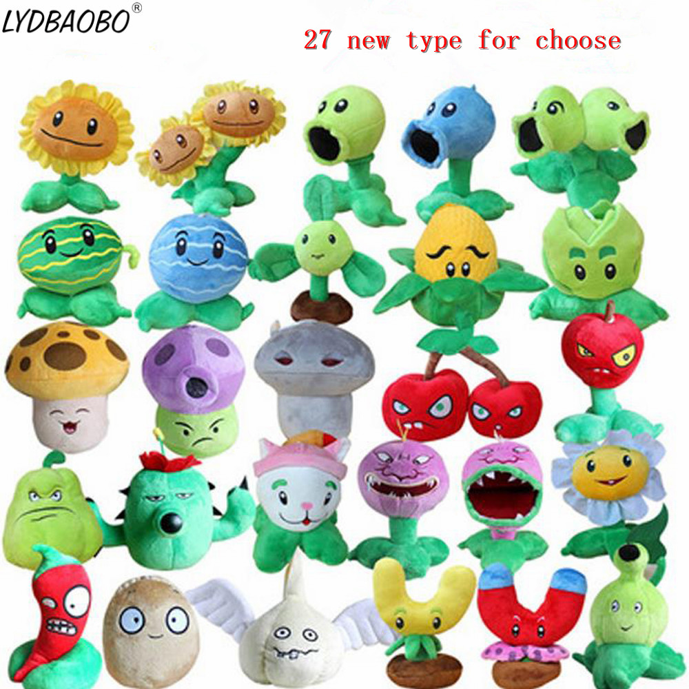LYDBAOBO 1PC 27 Styles Plants&Zombies Plush Toy Stuffed Soft Toys Classical Doll Plush Game Toy For Children Kids Birthday Gifts