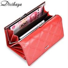 Dicihaya 女性財布本革財布女性財布コイン袋カードホルダーレディース長財布ファッション女性ハスプ財布