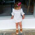 Infantil Del Bebé Cordón de Las Muchachas Vestidos de Los Niños Ropa De Verano Niños de la Princesa Vestidos Del Tutú de la Flor