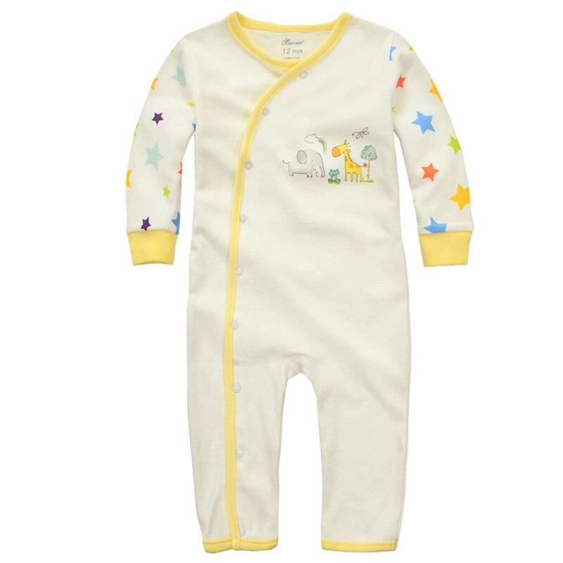 Y369 de manga larga abierto hebilla oblicua ropa siameses recién nacido  niños y niñas algodón romper ropa de escalada patrón animal lindo 5ab3e3aa220