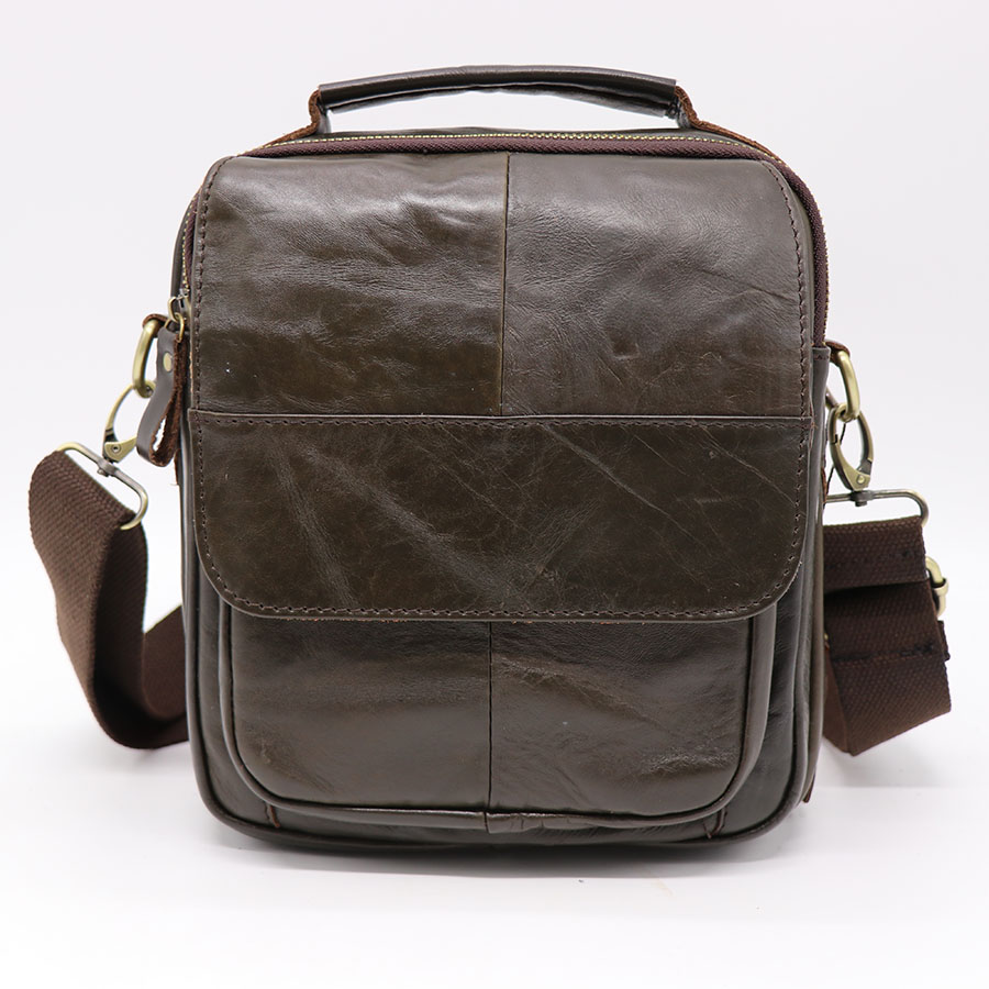 Brand Genuine Leather Casual Travel Bag Men's Corss Body Shoulder Messenger Bags Handbag Tablet PC Packs Cell Phone Case Cover