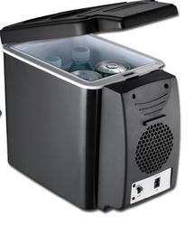 Refrigerador portátil do refrigerador do carro 12 v e mais quente com retenção da correia 6l 26 w/44 w