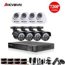 1080P HDMI AHD 8CH CCTV DVR 8PCS 1.0 MP IR Security Camera 2000 TVL CCTV Camera Surveillance System camera