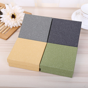 Jewelry Package 10 Pcs/Lot Candy Color Kraft Paper Boxes Necklace Gift Packaging Box Favour Vintage Cases Drop Shipping 50pcs small white kraft paper package box retail lipstick package cardboard boxes handmade soap candy jewelry gift packing box