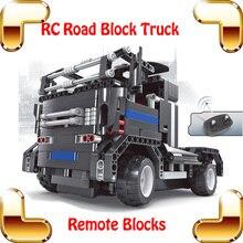 New Idea Gift 8008 Road Block RC Blocks Car Big Remote Control Brick Truck Toys DIY Models Vehicle Build Game Electric Machine