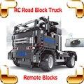 Nueva Idea de regalo 8008 bloqueo de carretera RC coche de Control remoto gran ladrillo juguetes de camiones DIY modelos de vehículos de construir juego de la máquina eléctrica