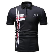 POLO Shirt Men's Tops Casual Tees Men Clothes Fashion Men Polo Shirt Lapel collar Short sleeve Summer Navy Black цена