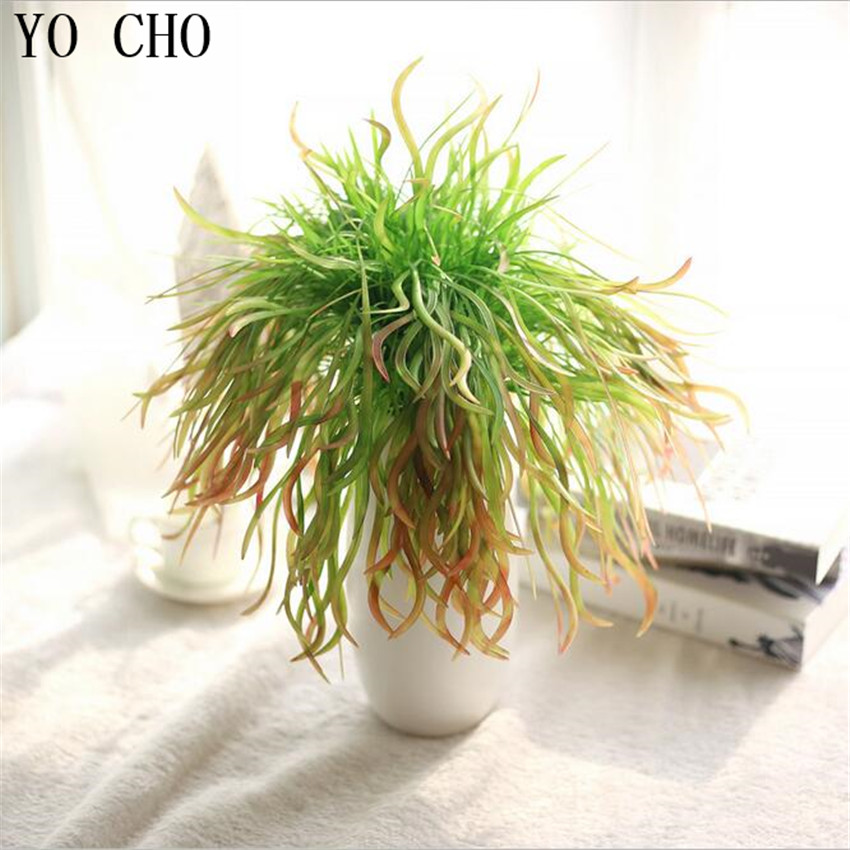 Yo cho diy wedding decoration flower aquatic plants real touch leaves grass indoor plant wall - Indoor plant wall diy ...