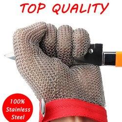 100% de malla de acero inoxidable, guantes protectores resistentes al corte, gran rendimiento para cocina, guante de seguridad para el trabajo de carnicero