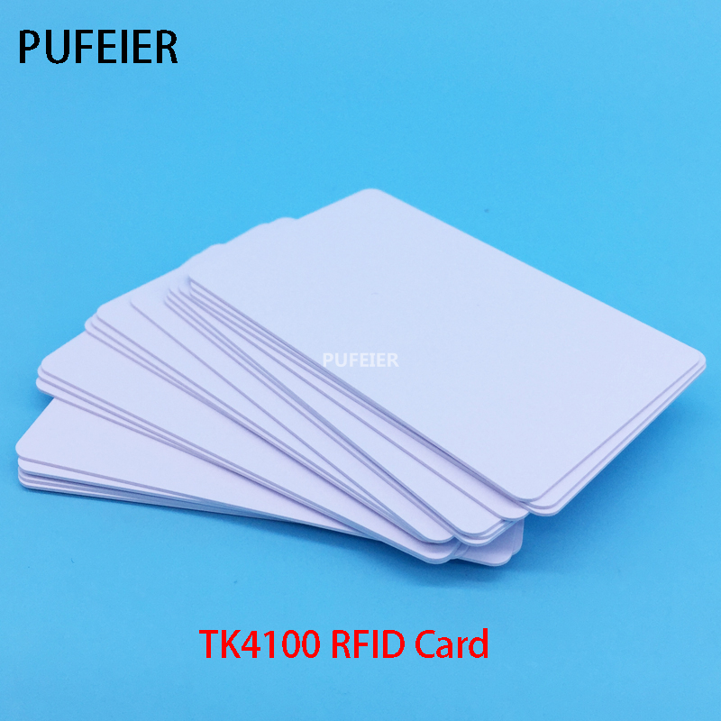 20PCS/Lot Inkjet PVC Chip TK4100 White Cards Support Two Side Printing Card For Access Control And Attendance