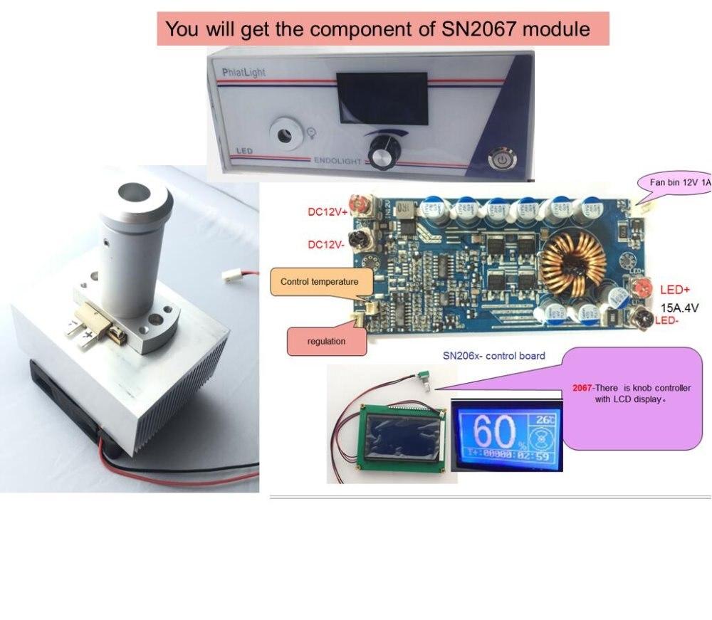 La dernière médical endoscope module d'éclairage et ENT LED lampe boîte phlatlight cbt90 contrôleur Bouton avec LCD affichage SN2067