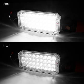 34 SMD Working Light 2 Mode Magnetic Flashlight Torch with Strong Hook Tent Camping Lamp Car Repair Work Light by 18650 Battery 6