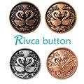 Rivca Botón Snap Joyería de Plata Antigua Chapado En Oro de 18mm de Botón A Presión Pulsera y Brazaletes del Encanto Pulsera de Cuero Para Mujer D03148
